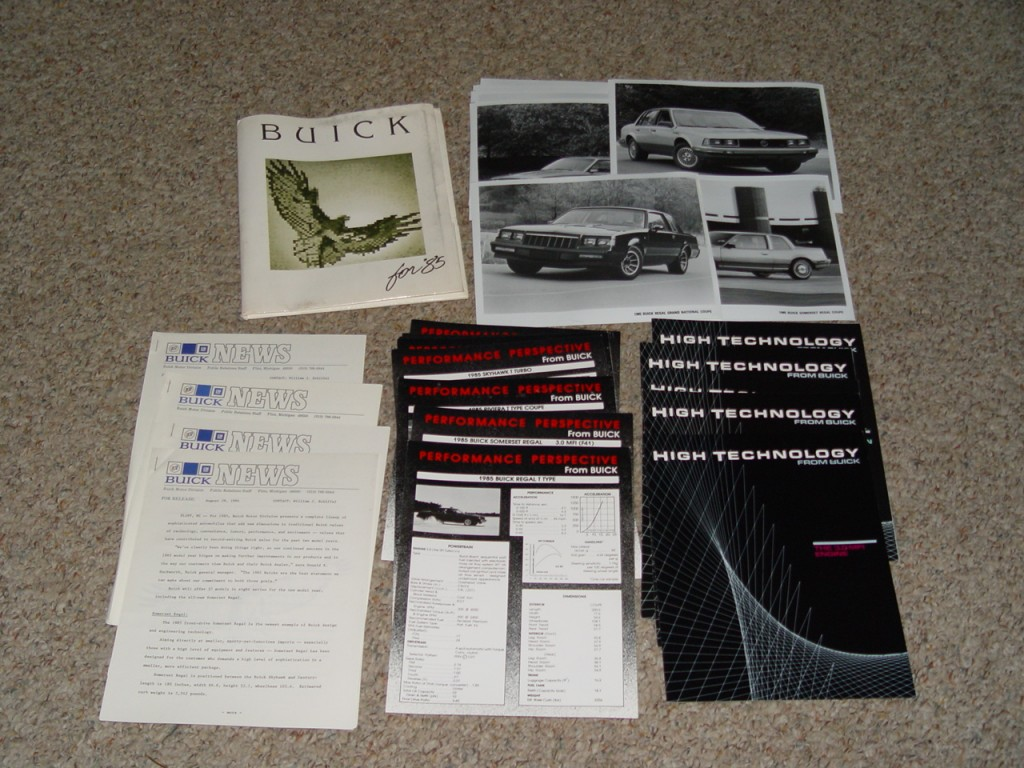 1985 buick press kit
