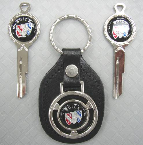 Buick Tri Shield Classic White Gold Key Set