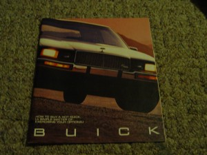 1987 buick regal brochure