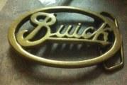 Buick Belt Buckle Tie Clip Earrings