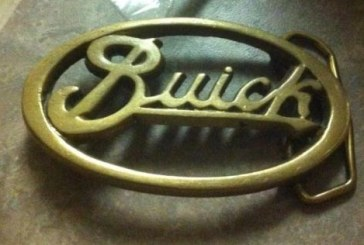 Buick Belt Buckle Tie Clip Earrings