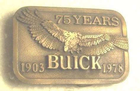 buick 75 years belt buckle