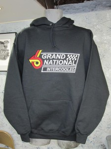 buick grand national logo hooded sweat shirt
