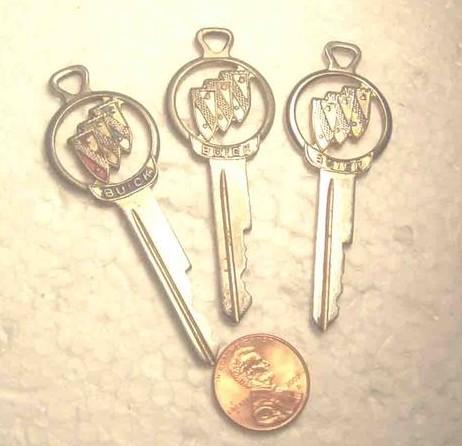 buick logo cut car keys