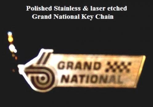 stainless grand national key chain