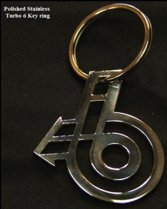 stainless turbo 6 keyring