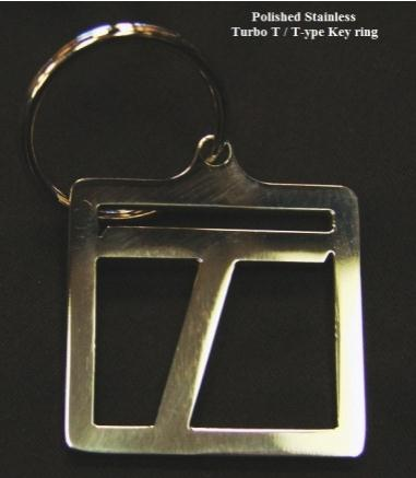 stainless turbo t type key ring