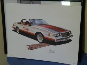 1981 buick pace car print