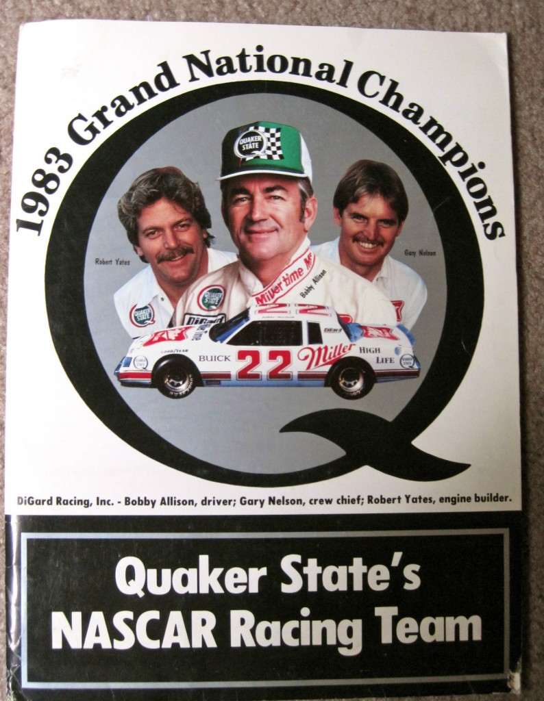 1983 Quaker State NASCAR Grand National Champions Press Media Kit