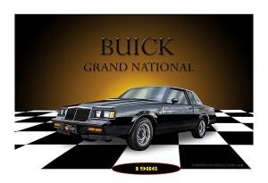 1986 buick grand national print