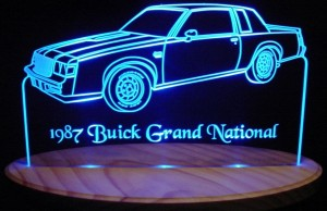 1987 buick grand national acrylic LED sign