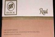 1982 1983 Buick Regal Owners Manual