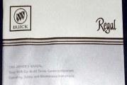 1984 1985 1986 1987 Buick Regal Owners Manual