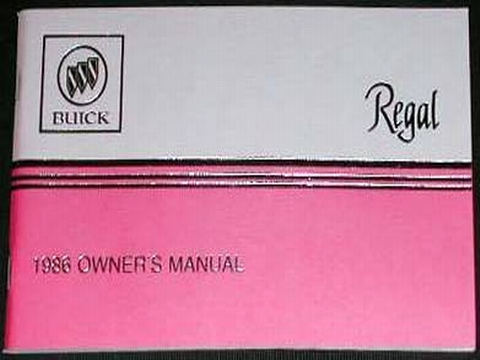 1986 buick regal owners manual