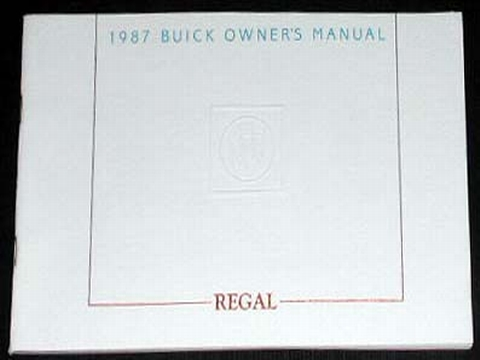 1987 buick regal owners manual