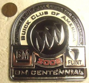 BCA 2008 GM Centennial license medal