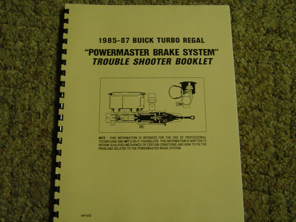 powermaster brake system booklet