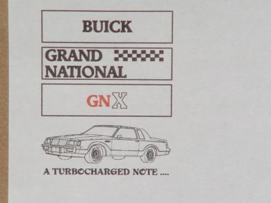 Buick Grand National Notepad