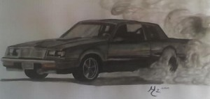 drawing of turbo buick