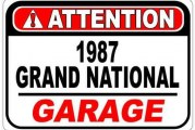 Buick Grand National Garage Signs