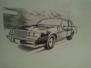 buick gnx drawing