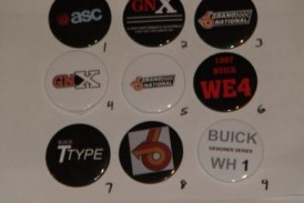 Assorted Buick Grand National Buttons