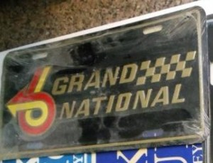 buick grand national logo license plate