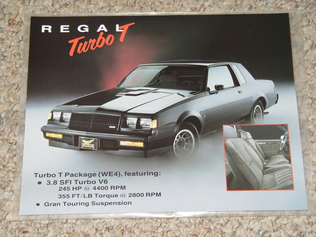 regal turbo t we4 advert