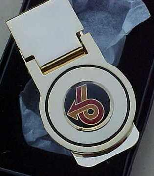 turbo 6 logo money clip