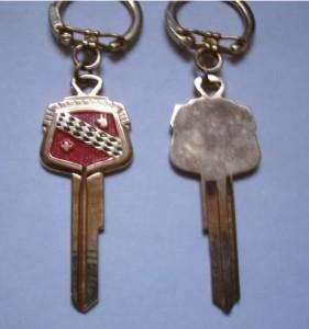 1950s buick solid brass keys