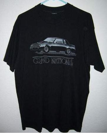 1987 buick gn t shirt