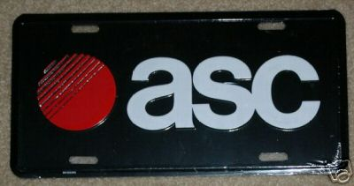 ASC license plate