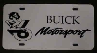 buick motorsports girl plate