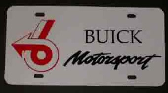 buick motorsports plate