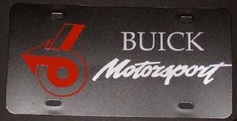 Buick Motorsports custom plate