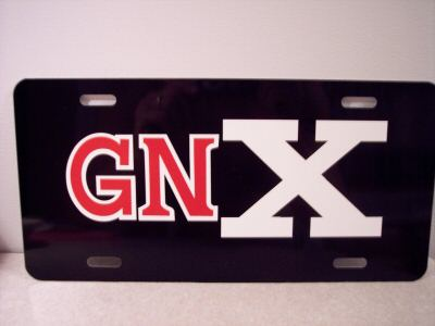 buick GNX plate