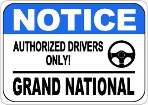 buick authorized drivers sign
