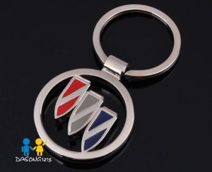 buick trishield logo cutout keyring