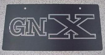 custom buick gnx plate