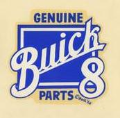genuine buick parts decal