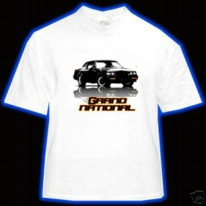 buick gn white t-shirt