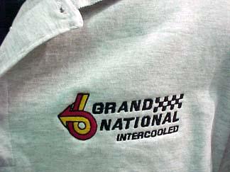 grand national grey polo shirt