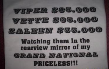 priceless buick shirt