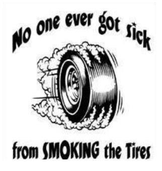 smoking the tires