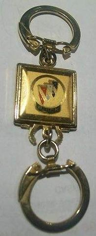 vintage buick logo pull apart keychain