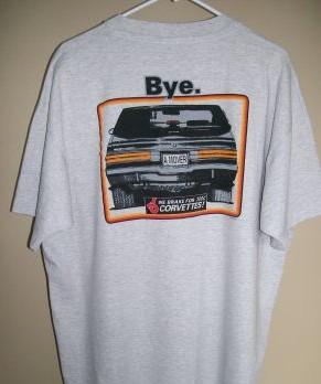 we brake for vettes shirt
