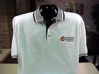 white buick polo shirt