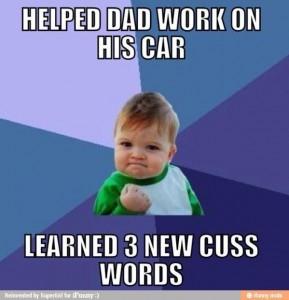 work on car