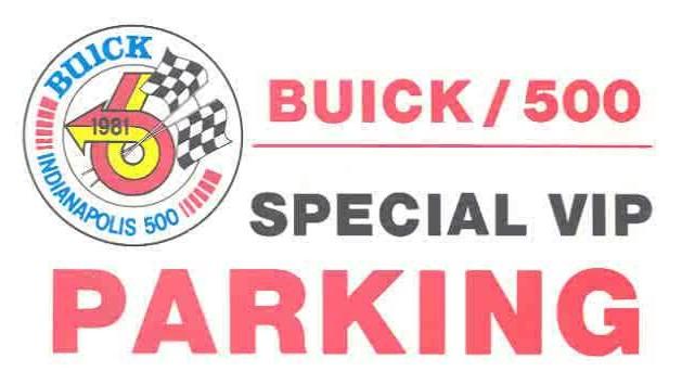 1981 VIP parking pass