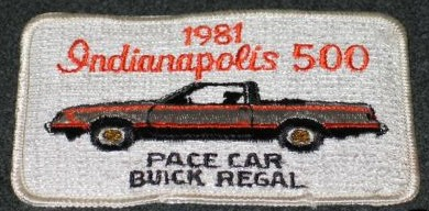 1981 indy pace car patch